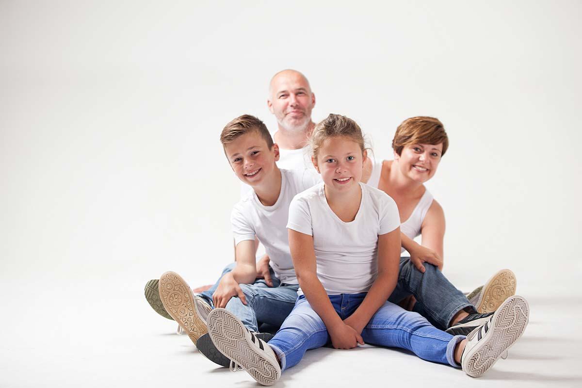 gezinsfoto in de fotostudio