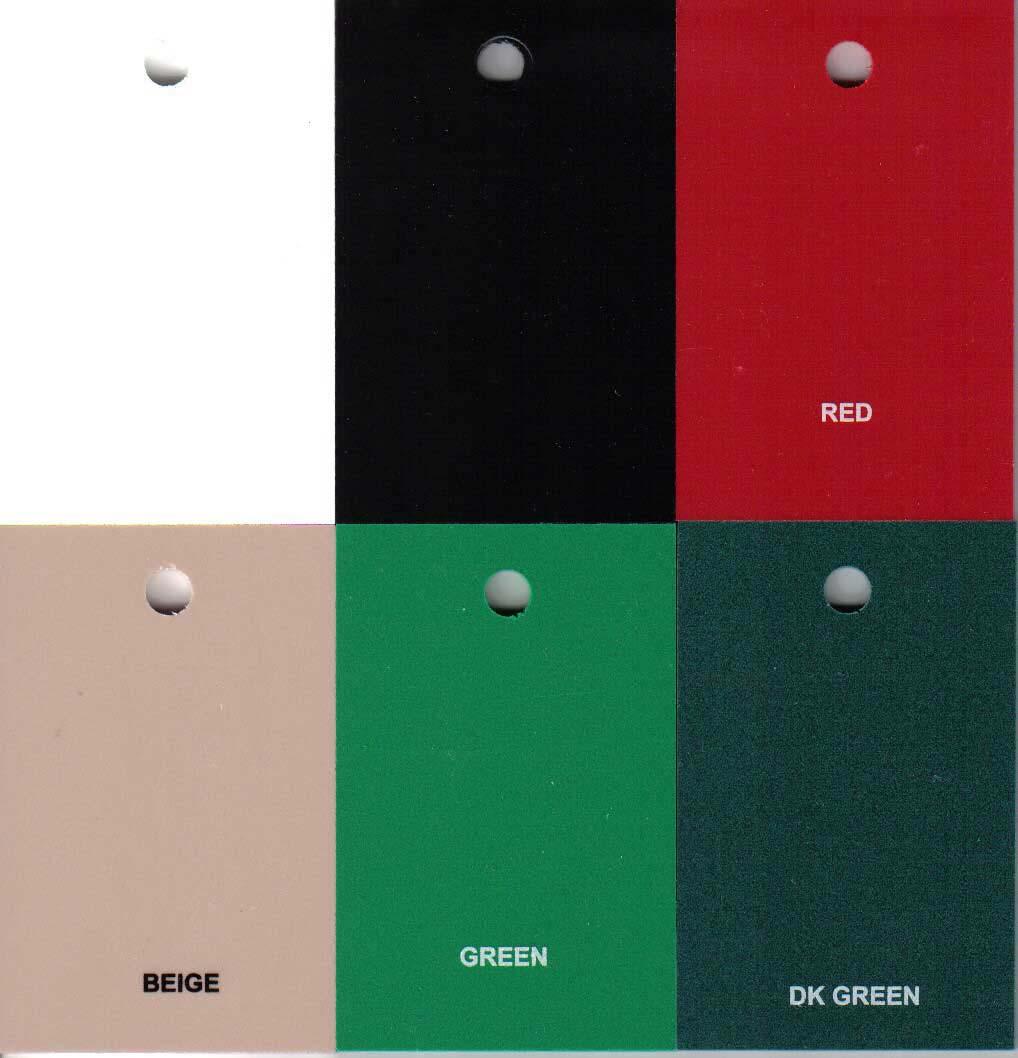 foto van alle beschikbare dibond kleuren