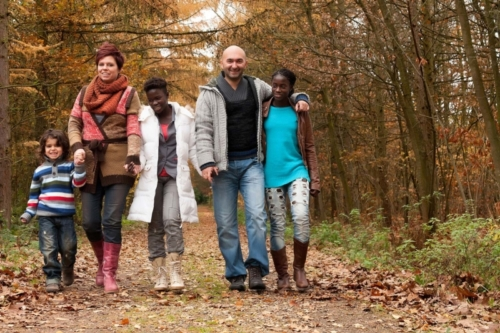 familieshoot in de natuur op sonnevijver in rekem