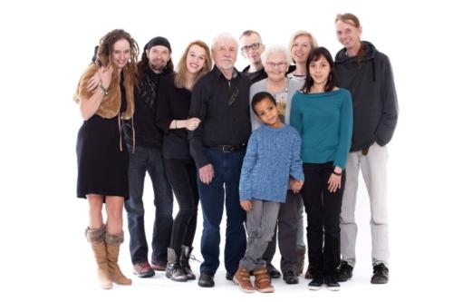 familiefoto in de fotostudio
