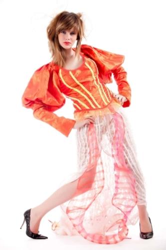 fashionmodel tijdens fotoshoot