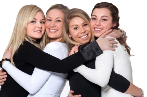 groepsfoto vriendinnen fotoshoot
