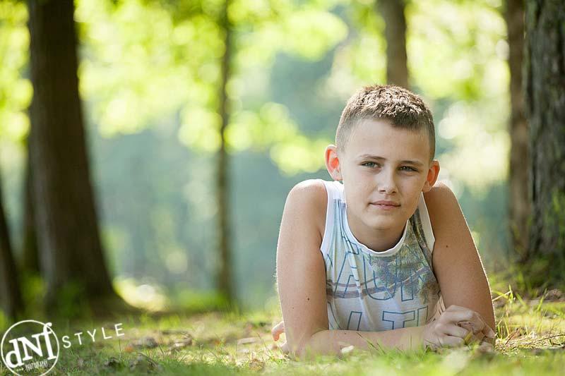 kinderportret tijdens buitenshoot