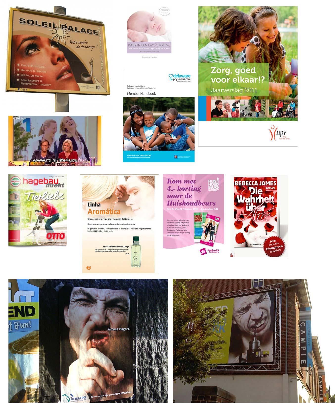 collage verschillende publicaties fotografie door dnf-style
